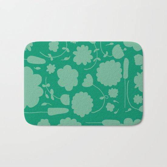 Floral green Bath Mat