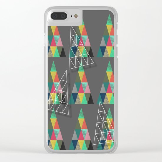 Xmas Trees Clear iPhone Case