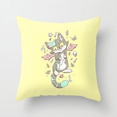 Monster Cat Throw Pillow