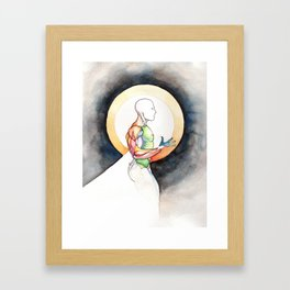 Circle the pain, male bodybuilder anatomy, NYC Artist Framed Art Print