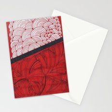 Red on Red Stationery Cards