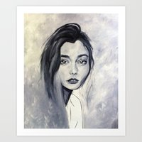 karen hallion Art Prints featuring Karen by Pamela Schaefer