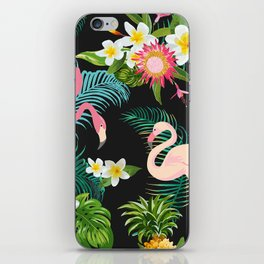 Flamingo Dance iPhone Skin