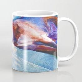 Sleeping in the Sun on a Chair Coffee Mug