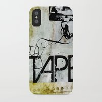tape iPhone & iPod Cases featuring Tape by CoCoCo