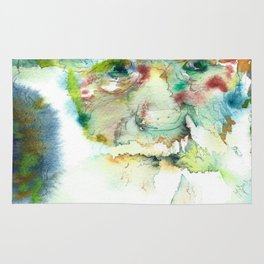 CHARLES DARWIN - watercolor portrait Rug