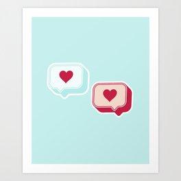 Heart Chats Art Print