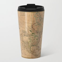 Map of North America by Herman Moll (1715) Travel Mug