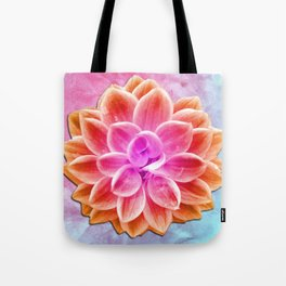 abstract dahlia  Tote Bag