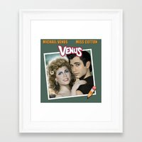 grease Framed Art Prints featuring Grease by House of Venus
