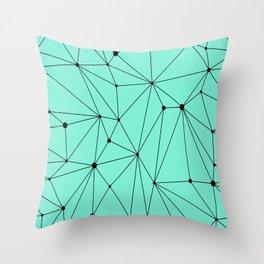 Geometric Mint Throw Pillow