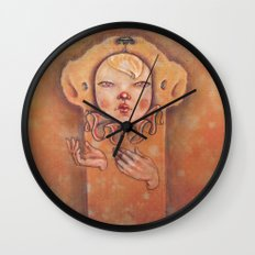 In Yellow Wall Clock