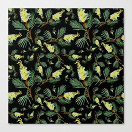 Australian Native Floral Pattern - Beautiful Grevillea Canvas Print