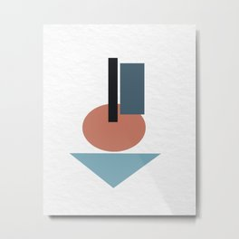 Geometric simple 03 Metal Print