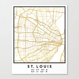 ST. LOUIS MISSOURI CITY STREET MAP ART Canvas Print
