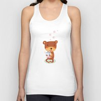bubbles Tank Tops featuring Bubbles by Villie Karabatzia