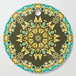 Golden mandala Cutting Board
