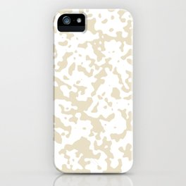 Spots - White and Pearl Brown iPhone Case