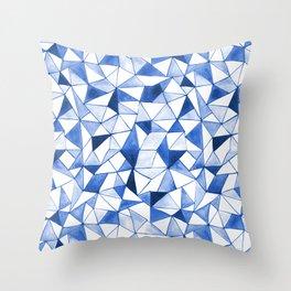 Watercolour Triangles Throw Pillow