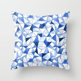 Watercolour Triangles Throw Pillow