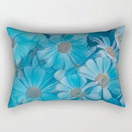 abstract daisy in bloom in spring Rectangular Pillow
