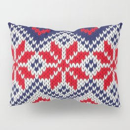Winter knitted pattern 11 Pillow Sham