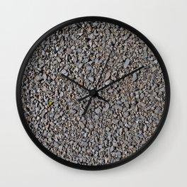 Grey Gravel Pattern Rocks Wall Clock