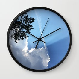 Eclipsed By A Cloud Wall Clock