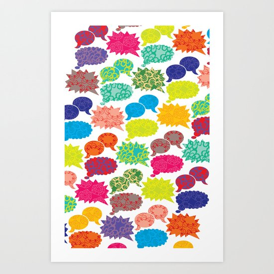 Speech Bubbles Art Print