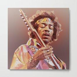 Jimi Hendrix Guitar God Metal Print