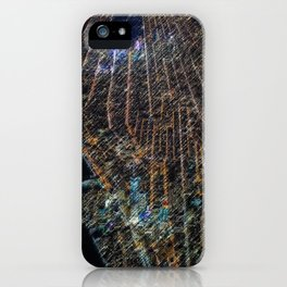 Lower Manhattan Street-view Landscape Painting by Jeanpaul Ferro iPhone Case