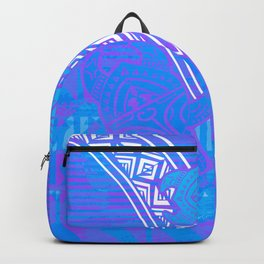 Fijian Tribal Turtle Print Backpack