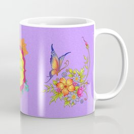 Spring Flowers and Butterfly Posy Coffee Mug