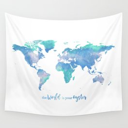 The world is your oyster Wall Tapestry