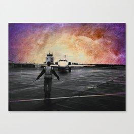 Purple skies at night, astronauts delight Canvas Print