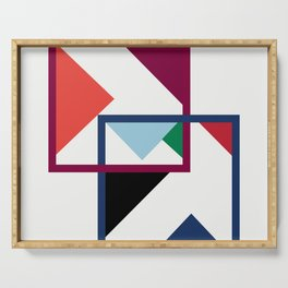 Luxe coloured shapes in an abstract pattern Serving Tray