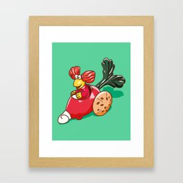 Fraggle Rock 1987 Happy Meal Toy Red Raddish Framed Art Print
