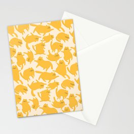 Yellow Cats Pattern Stationery Cards