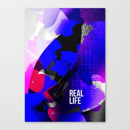 Graphic interpretation of the music Real Life by Kimbra Canvas Print