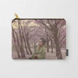 Geisha among Cherry Blossom trees Carry-All Pouch