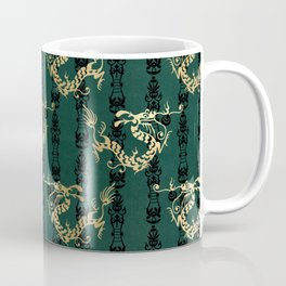 Emerald Green Oriental Dragon Coffee Mug