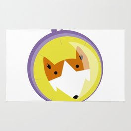 Compass fox Rug