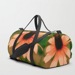 Vibrant Orange Coneflower Duffle Bag