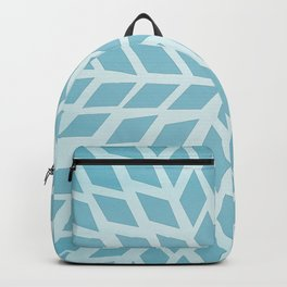 Light blue, diamond, mosaic pattern. Moroccan tile. Backpack