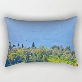 View Over The Bay of Villefranche Rectangular Pillow