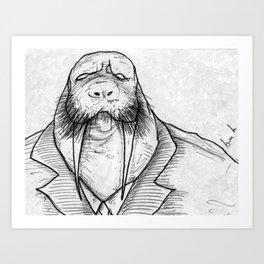Mr Walrus u cant dance.. Art Print