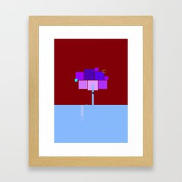square landscape Framed Art Print