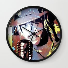 Tom Petty. legend. painting. print. Wall Clock