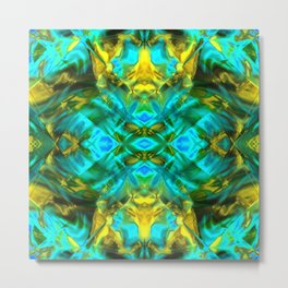 Mint and gold. Metal Print