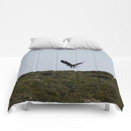 Osprey In Flight on the Ocean Comforters